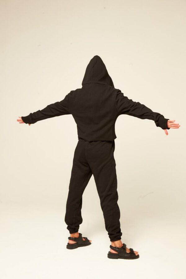 Спортивный костюм Three из трёх позиций на замке чёрный